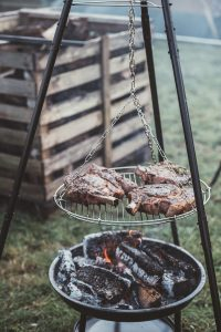 kött på grill